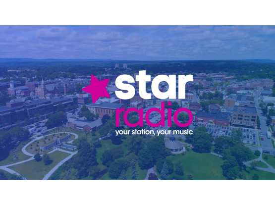 Star Radio logo over Saratoga