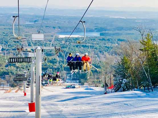 West Mtn chair lift in winter