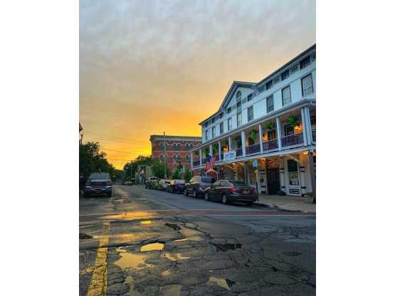 BSBPA sunset looking down street