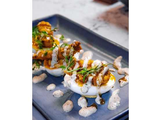 Seneca Small plate deviled eggs