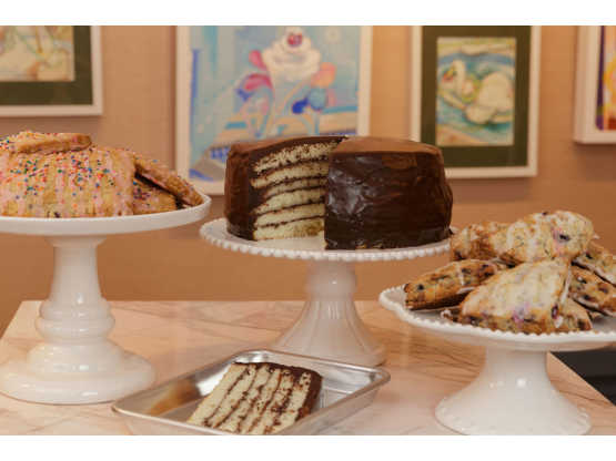 Palette Cafe desserts displayed