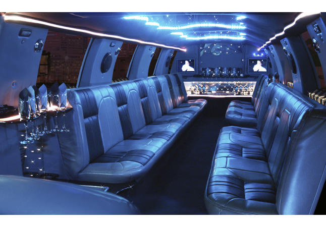 22 Passenger Ford Excursion Interior