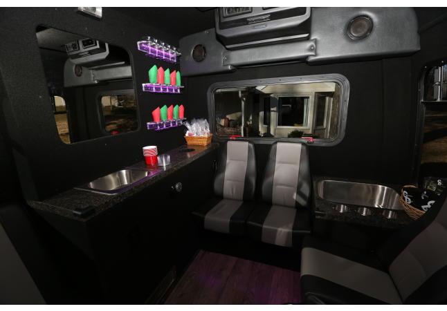 Inside sprinter/limo bus