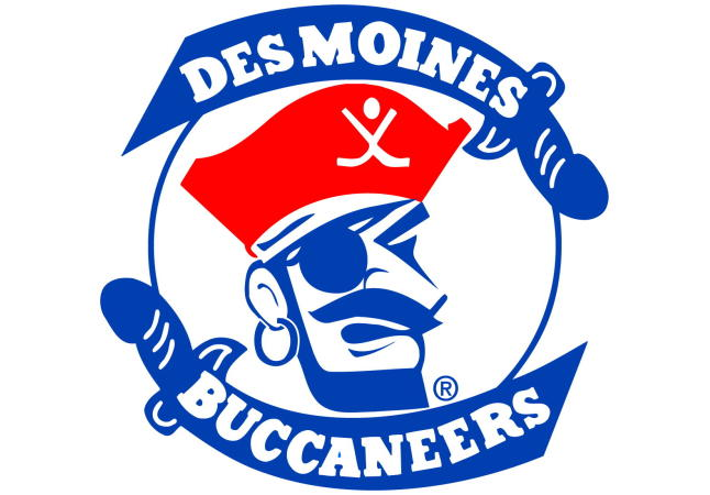 Logo for Des Moines Buccaneers