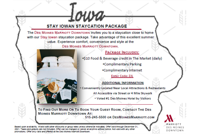 Stay Iowa Overnight Package