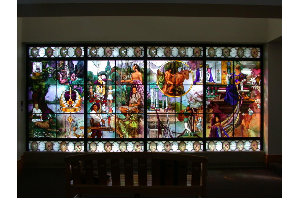 Stained Glass Window at the Library