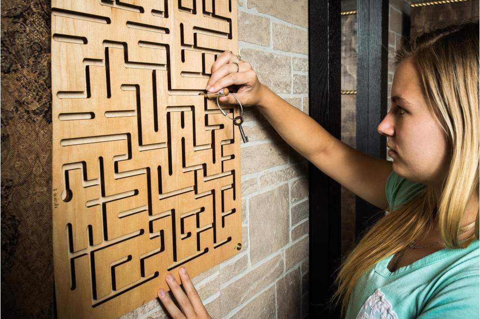 Escapes in Time Girl with Puzzle
