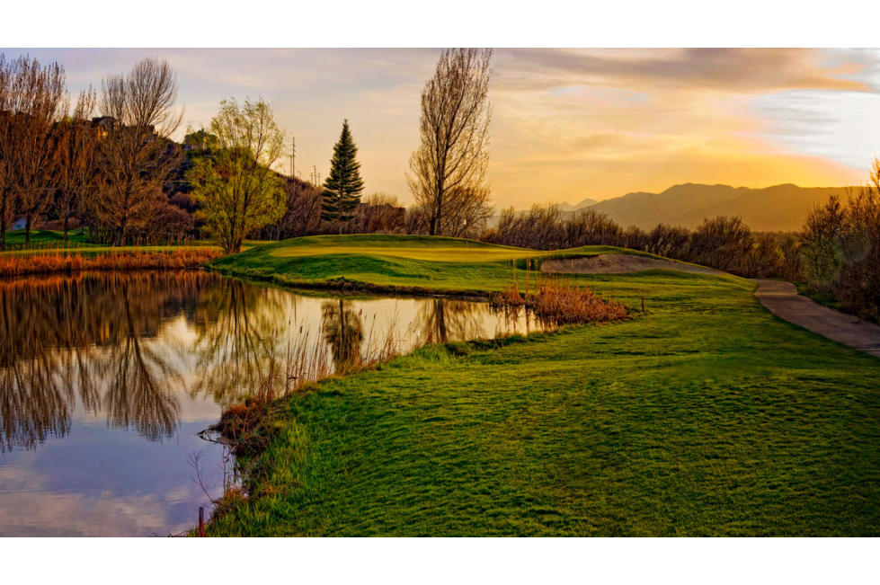 Spanish Oaks Golf Course at Sunset