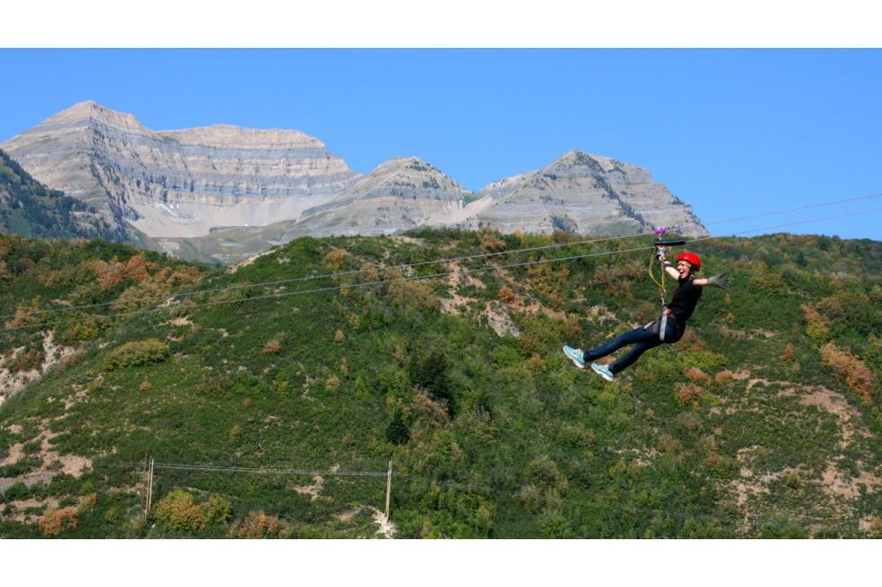 Ziplining Past the Mountains