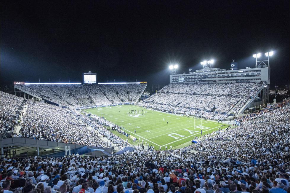 BYU Football at Night