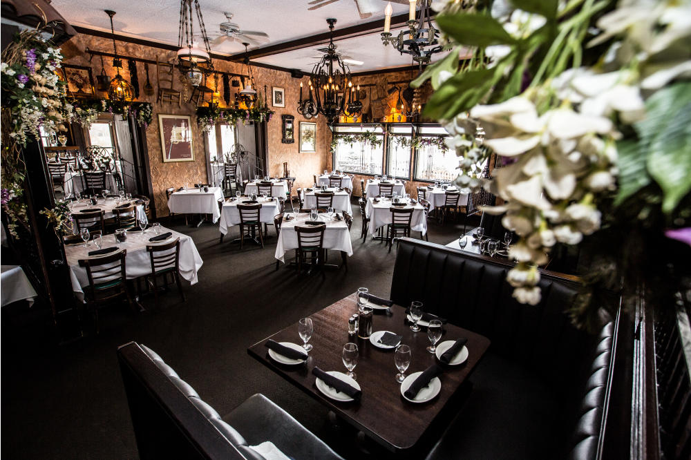 We offer booth and table seating in our main dining area