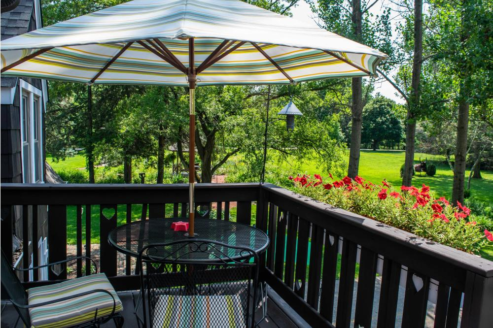Private patios and decks