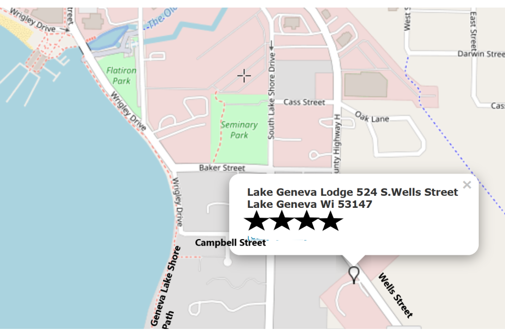 Lake Geneva lodge on Map
