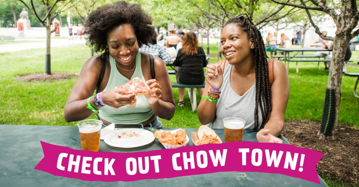 Eating at Chow Town at Lollapalooza