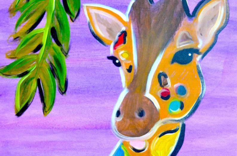 Elephant Or Giraffe Canvas Painting