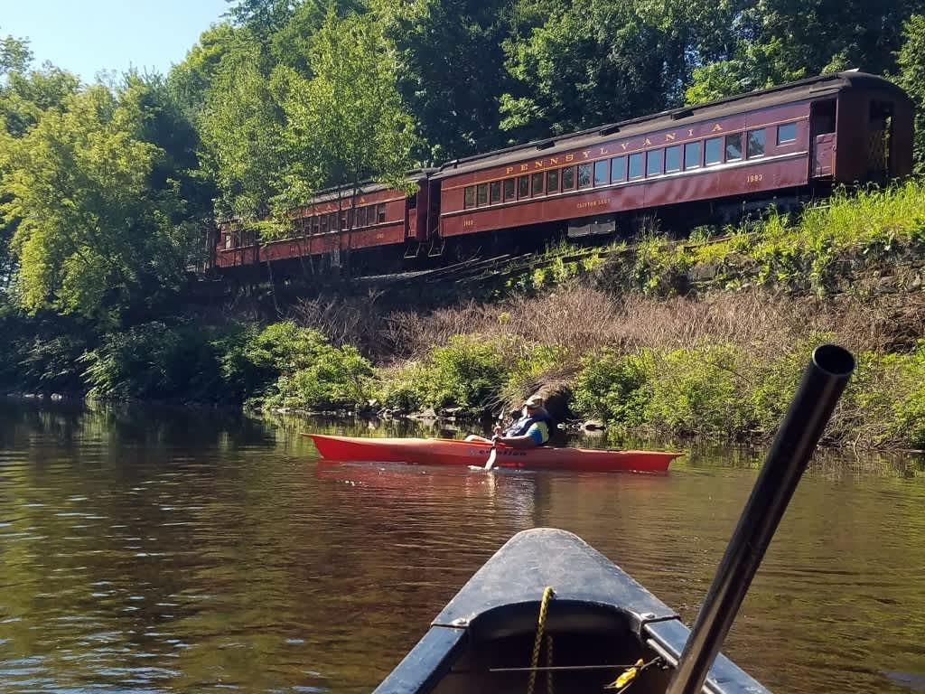 Rail & River Lackawaxen Kayak Trip/Train Excursion from
