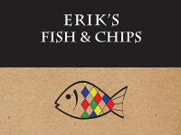 Erik's Fish and chips Logo for Queenstown and Wanaka