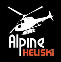 Alpine Heliski logo REVERSE