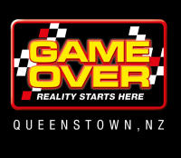Game Over Queenstown Logo reversed