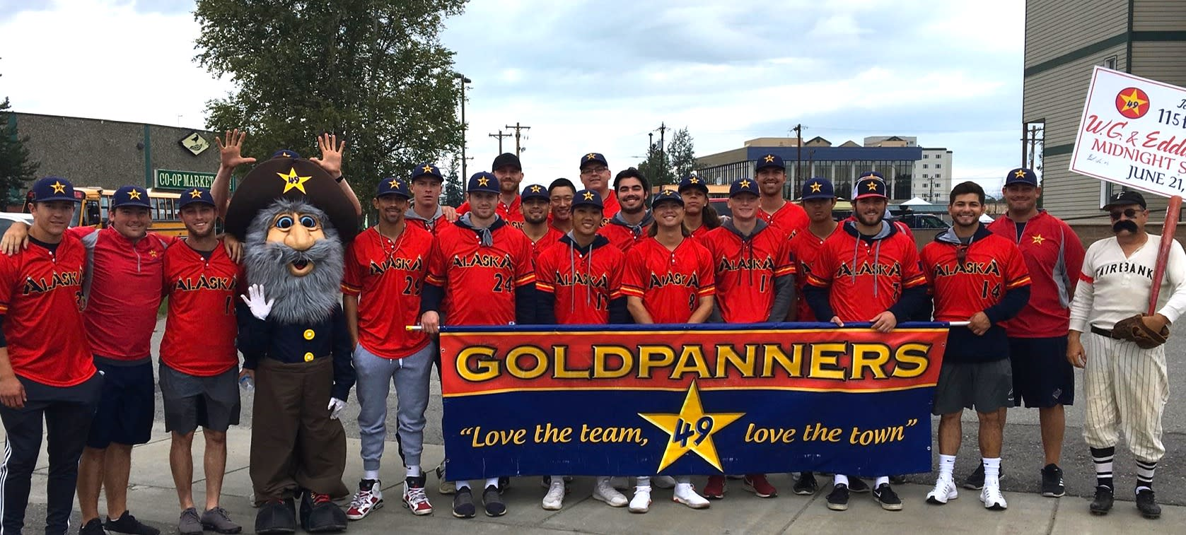 Alaska Goldpanners Baseball Midnight Sun Game