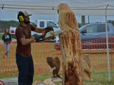 4p chainsaw carving competition