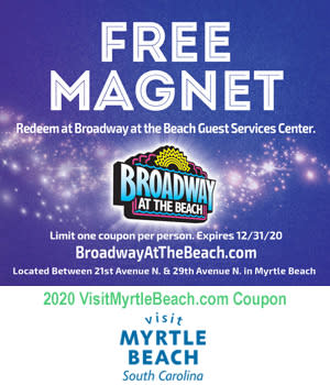 Broadway at the Beach - Free Magnet