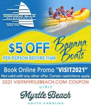 Downwind Sails Watersports - $5 Off Banana Boat Rides