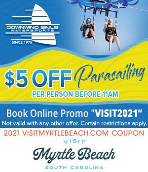 Downwind Sails Parasailing - $5 Off Parasailing