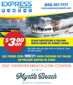 Express Watersports - $3 Off Ocean Sightseeing Dolphin Watch  OR Sunset Cruise