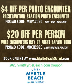Myrtle Beach Safari - Save $20 Off Per Person Wild Encounters Tour