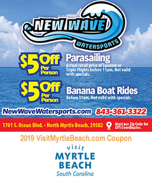 New Wave Watersports - $5 Off Parasailing & Banana Boat Rides
