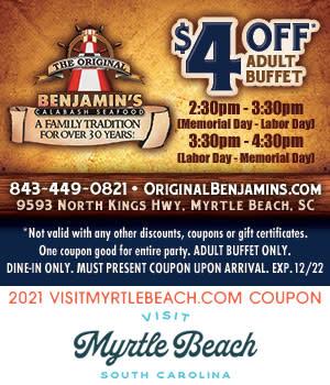 Original Benjamin's Calabash Seafood - $4 Off Adult Buffet