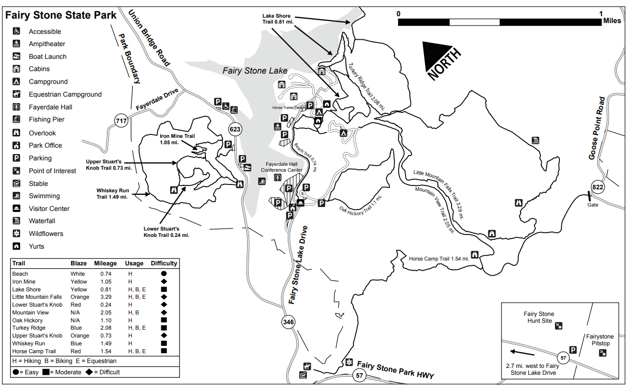 Fairy Stone State Park Trail Map - The Best Picture Park In ...