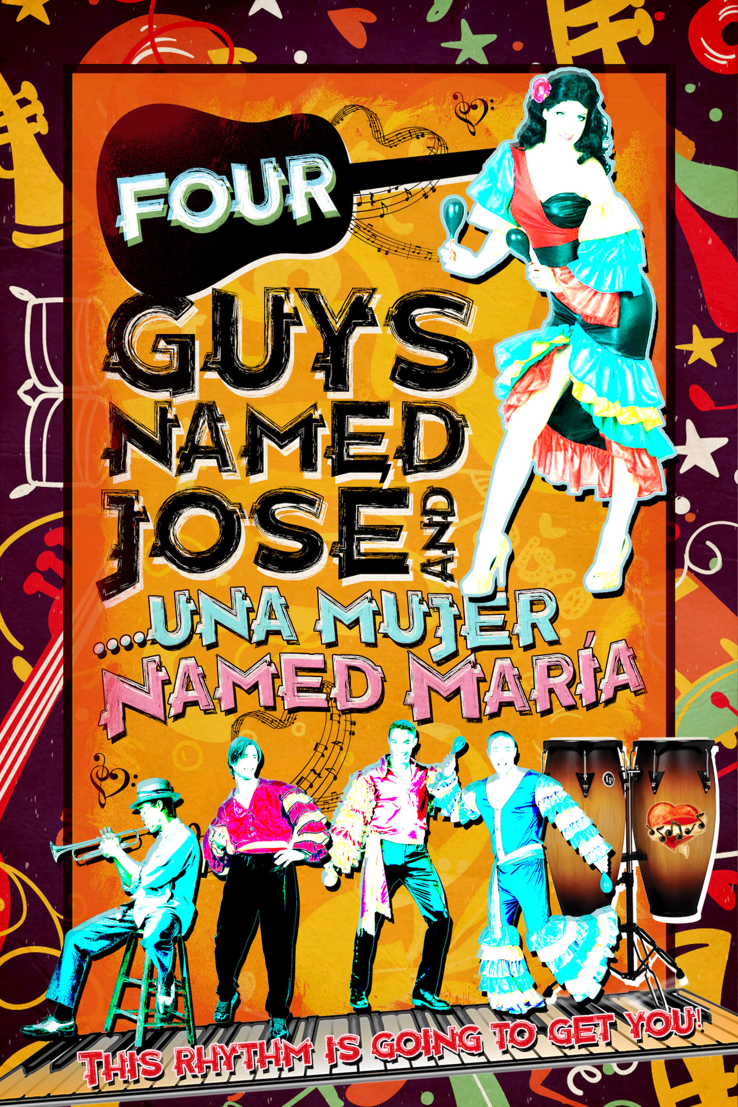 Four Guys Named Jose and Una Mujer Named Maria