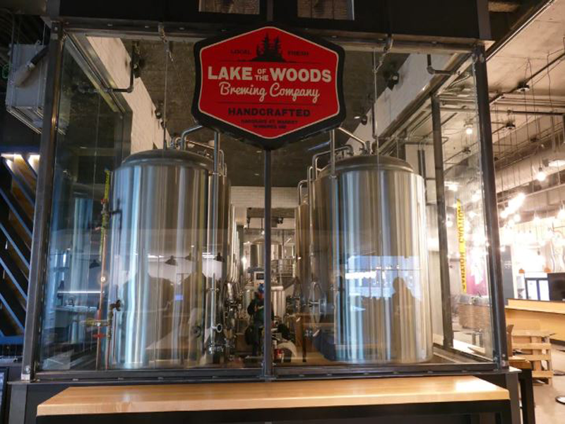 Lake of the Woods Brewing Company is one of the vendors in Hargrave St. Market. (Jeff Stapleton/CBC)