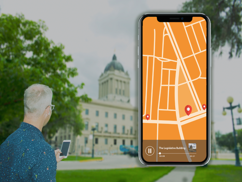 Winnipeg Trolley Company new app tour - Wicked to Riches Broadway Walking Tour