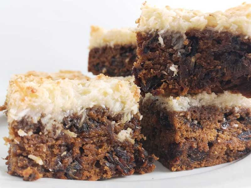 © Thyme and Cafe Books - Coconut Date Squares