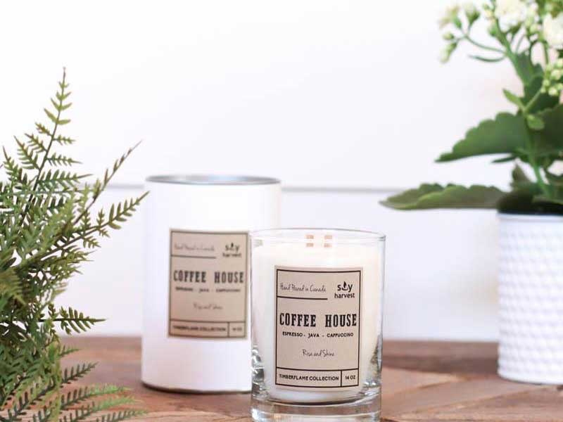 © Salt Boutique - Soy Harvest wood wick candles. Locally made here in Winnipeg.