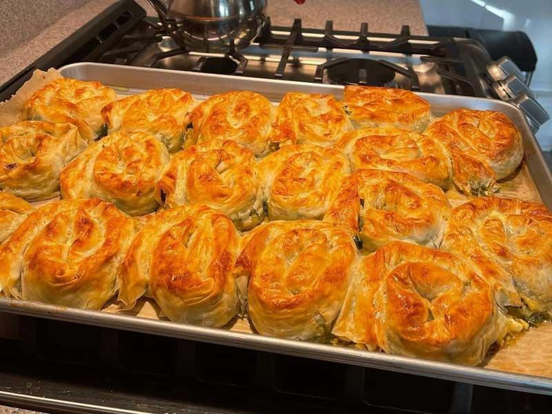 © Diaspora Cafe - Spinach and feta cheese pie