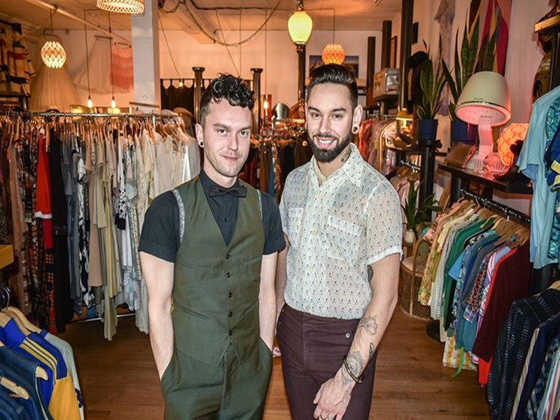 The faces (owners) behind Vantage Vintage Boutique. Joshua (left) and Michael (right).