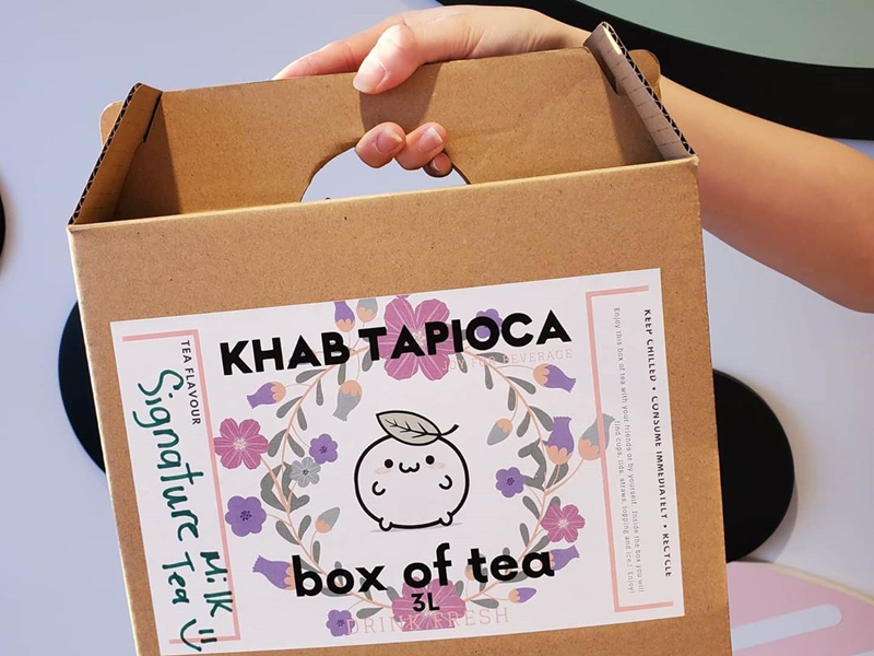 KHAB Tea boxes are the perfect item to bring to a party. - Khab Tapioca (Instagram)
