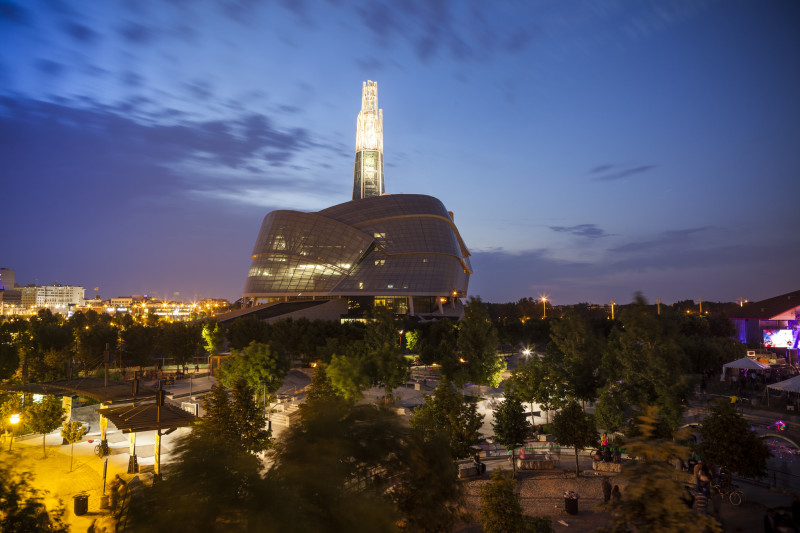 Canadian Museum for Human Rights at twilight