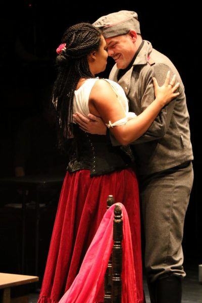 Catherine Daniel (Carmen) and Martin Renner Wallace (Don José) in Little Opera Company's La Tragédie de Carmen. Photo: Heather Milne
