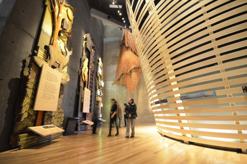 The Indigenous Perspectives Gallery in the Canadian Museum for Human Rights