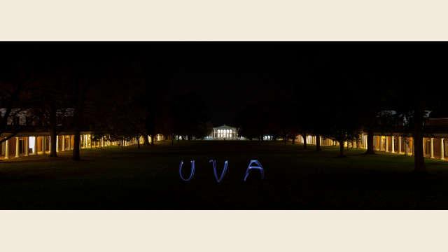 UVA Lawn at Night