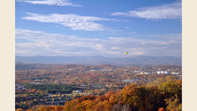Charlottesville Aerial in the Fall