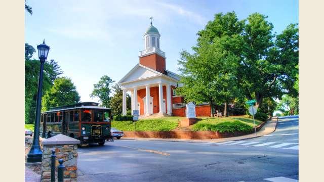 Main Street In Front of the Rotunda at UVA