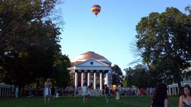 Hot Air Balloon Over The Rotunda