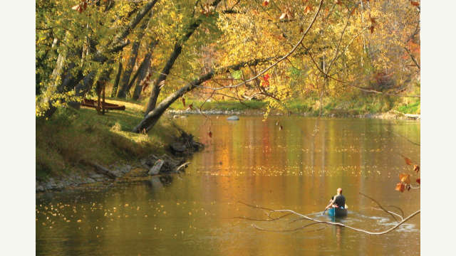 Wildcat Creek Canoeing Fall