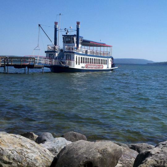 Canandaigua Lady docked at shore